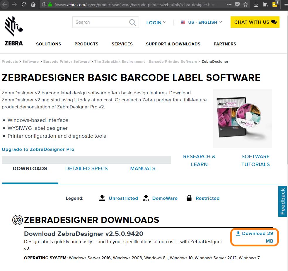 Make a Zebra label ZebraDesigner